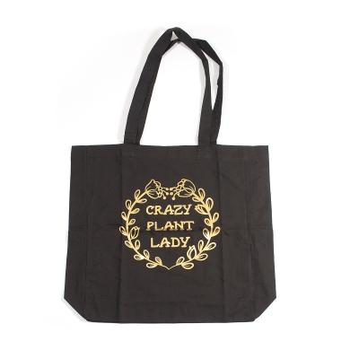 "Tote-bag noir ""Crazy Plant..."