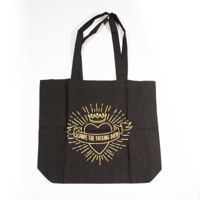 "Tote-bag noir ""Carpe The..."